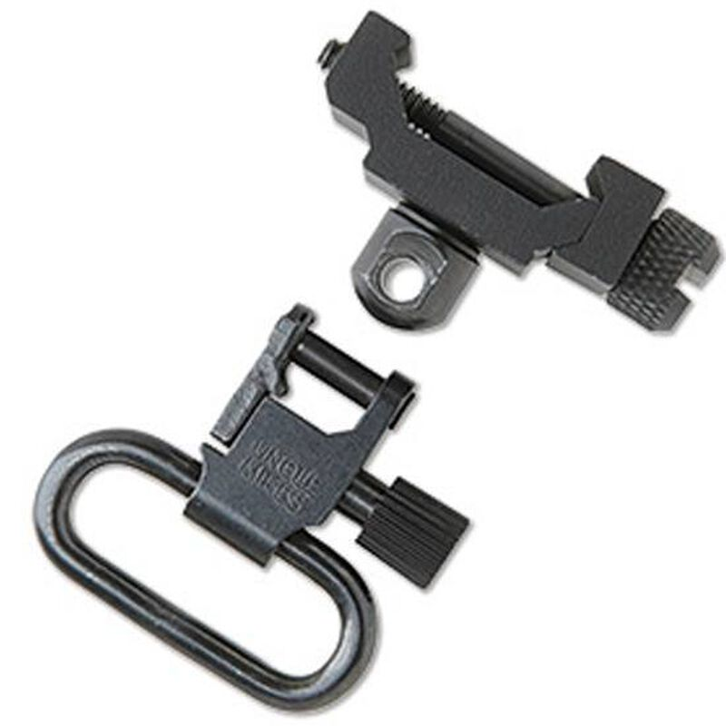 """Uncle Mike's Picatinny Swivel Attachment Point Fixed Quick Detach 1"""" Swivel Steel Black"""