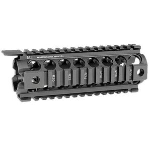 Midwest Industries Generation 2 Two Piece Drop In Forearm QD Points Quad Rail Handguard Carbine Length Matte Black MCTAR-17G2