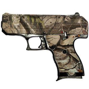 "Hi-Point C-9 Semi Auto Pistol 9mm Luger 3.5"" Barrel 8 Rounds 3 Dot Sights High Impact Polymer Frame Black Powder Coat Finish Matte Woodland Camo 916WC"