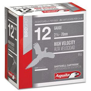 "Aguila High Velocity Field 12 Gauge Ammunition 25 Rounds 2-3/4"" Length 1-1/4 Ounce #4 Shot 1330fps"