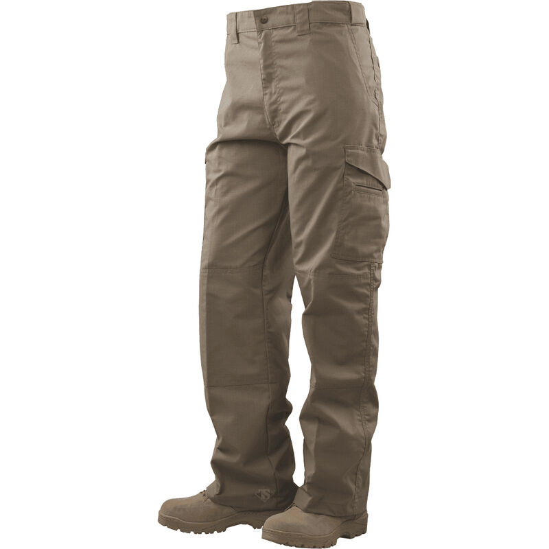 Tru-Spec Tactical Boot Cut Trousers 65/35 Polyester/Cotton Rip-Stop 30x34 Khaki