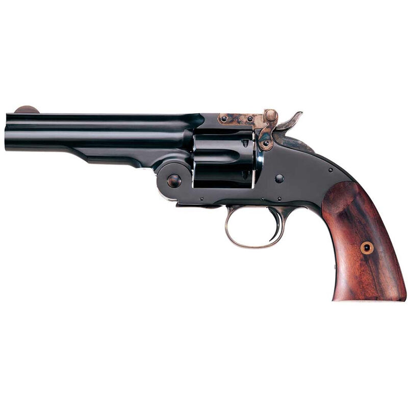 "Taylor's & Co Schofield Top Break Single Action Revolver .38 Special 5"" Barrel 6 Rounds Walnut Grip Blued 0858"
