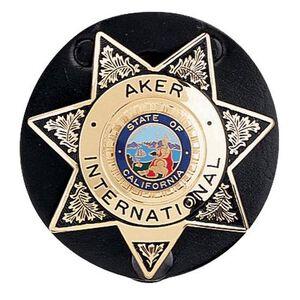 Aker Leather Clip On Star Badge Holder Cowhide