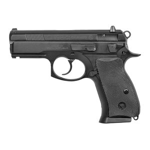 "CZ P-01 Compact Semi Automatic Handgun 9mm 3.8"" Barrel 10 Rounds Rubber Grips Black Polycoat Finish Decocking Lever Rail"