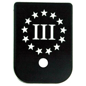 CruxOrd GLOCK Magazine Base Plate Three Percent Flag Aluminum Black