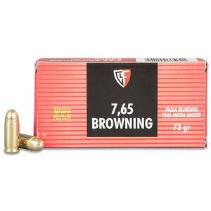 FIOCCHI .32 ACP Ammunition 50 Rounds FMJ 73 Grains 32AP