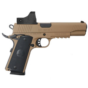 "EAA GiRSAN MC1911S Government Model .45 ACP Semi Auto Pistol 5"" Barrel 8 Rounds Red Dot Optic Ambidextrous Safety Flat Dark Earth Finish"
