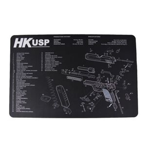 "JE Machine 11"" x 17"" Handgun Cleaning Mat with Heckler and Koch USP Imprint"