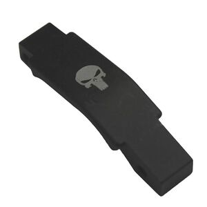 JE Machine AR-15/M4 Advanced Trigger Guard, Engraved Punisher Skull USA