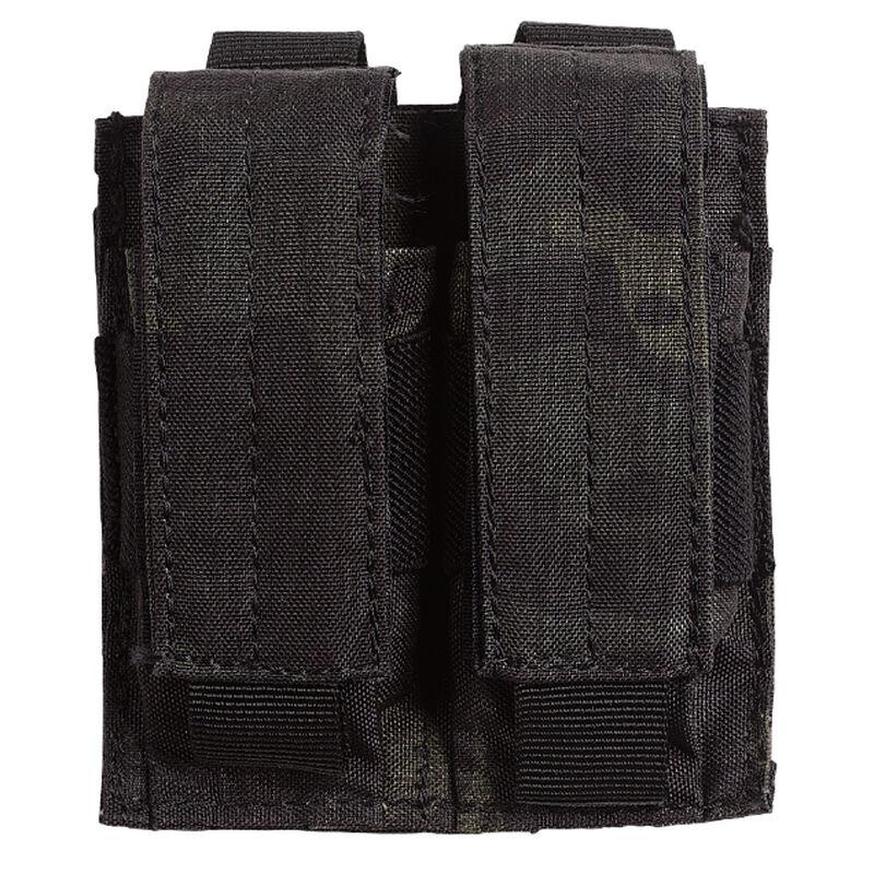 Voodoo Tactical Double Pistol Magazine Pouch Velcro Closure MOLLE Compatible Nylon Black Multi-Cam