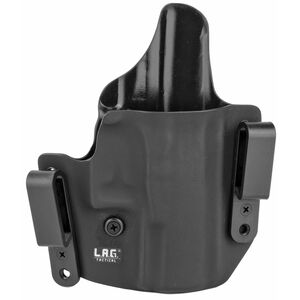 LAG Tactical Defender Series OWB/IWB Holster for Walther PPQ Models Right Hand Draw Kydex Construction Matte Black Finish