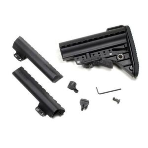 Vltor AR-15 IMOD Improved Modstock Mil-Spec Standard Black Battery Storage Butt Pad Black AIBMSB