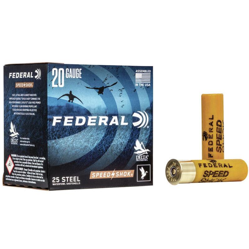 "Federal Speed-Shok Waterfowl 20 Gauge Ammunition 3"" #4 Steel Shot 7/8oz 1550fps"