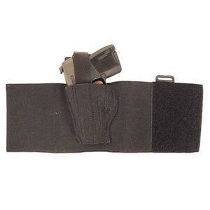 DeSantis 062 GLOCK 26, 27, 29, 30, SIG Sauer 250SC, S&W M&Pc, Walther PPS/PK380 Apache Ankle Holster Left Hand Nylon Black