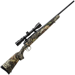 "Savage Arms Axis XP Camo Compact 6.5 Creedmoor Bolt Action Rifle 20"" Barrel 4 Rounds with 3-9x40 Scope MOBUC Camo Synthetic Stock Black Finish"