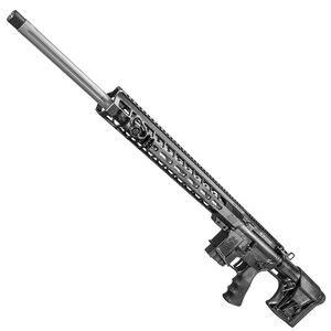 """Windham Weaponry AR-15 Semi Auto Rifle .224 Valkyrie 22"""" Fluted Barrel 5 Rounds 15"""" Free Float Forend Luth-AR Buttstock Hogue Overmolded Beavertail Grip Matte Black Finish"""