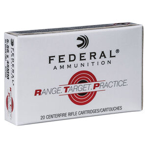 Federal Range Target Practice 5.56 NATO Ammunition 20 Rounds 55 Grain Full Metal Jacket
