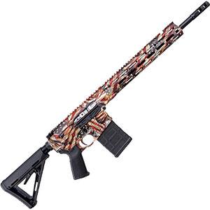 "Savage Arms MSR 10 Hunter .308 Win Semi Auto Rifle 20 Rounds 16"" Barrel Free Float M-LOK Handguard Collapsible Stock RWB US Flag Finish"