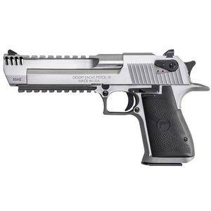 "Magnum Research Desert Eagle Mark XIX Semi Auto Pistol .44 Magnum 6"" Barrel 8 Rounds Fixed Combat Sights Weaver Accessory Rail/Picatinny Rail Natural SS Finish"