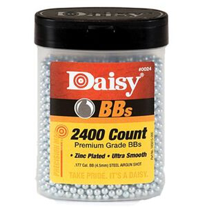 Daisy Premium Grade Ammunition Zinc Plated 4.5 Millimeter Silver 24BBS