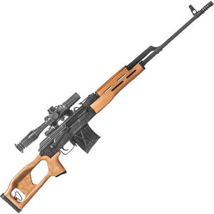 "Century Arms Romanian PSL54 Semi Auto Rifle 7.62x54R 24.5"" Barrel 10 Rounds 4x24mm Scope Wooden Stock/Forend Matte Black Finish"