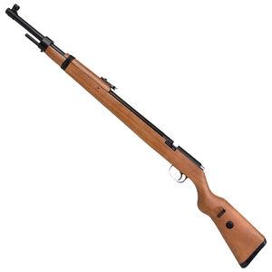 "Diana Mauser K98 .177 Caliber PCP Bolt Action Air Rifle 21.5"" Barrel 1050 fps 12 Pellets Adjustable Sights Wood Stock Blued Finish"