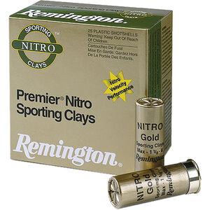 "Remington Premier Nitro Sporting Clays Target Loads 12 Gauge Ammunition 2-3/4"" Shell #8 Lead Shot 1-1/8oz 1300fps"