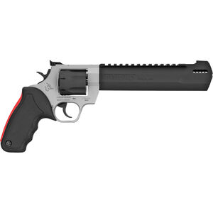 """Taurus Raging Hunter .357 Mag DA/SA Revolver 8.375 """" Ported Barrel 7 Rounds Adjustable Rear Sight Picatinny Top Rail Rubber Grip Two Tone Stainless/Black"""