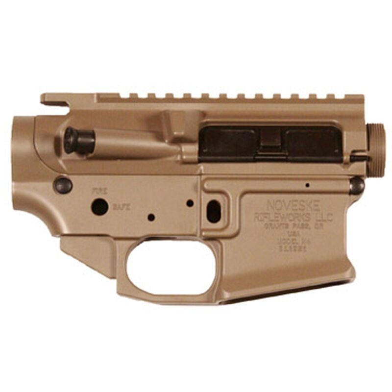 Noveske Rifleworks Gen III Matched Upper and Lower Set 5.56 NATO Assembled Upper Receiver with Stripped Lower Receiver 7075-T6 Aluminum Engraved Hard Coat FDE