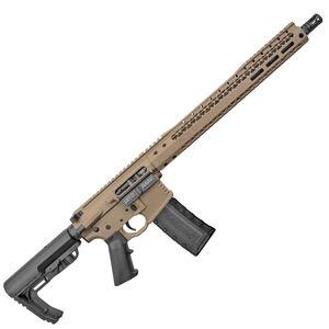 "Black Rain Ordnance Billet 5.56 NATO AR-15 Semi Auto Rifle 16"" Barrel 30 Rounds Free Float Hybrid Hand Guard Collapsible Stock Flat Dark Earth Cerakote Finish"