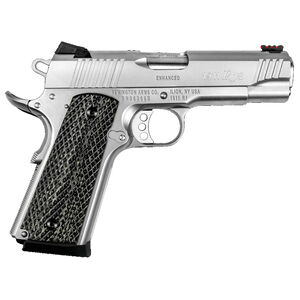 "Remington 1911 R1 Enhanced Commander Semi Auto Pistol .45 ACP 4.25"" Barrel 8 Rounds Laminate Grips Stainless Steel 96360"