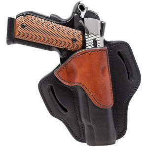 1791 Gunleather Open Top Multi-Fit OWB Belt Holster for Full Size 1911 Semi Auto Models Right Hand Draw Leather Black/Brown