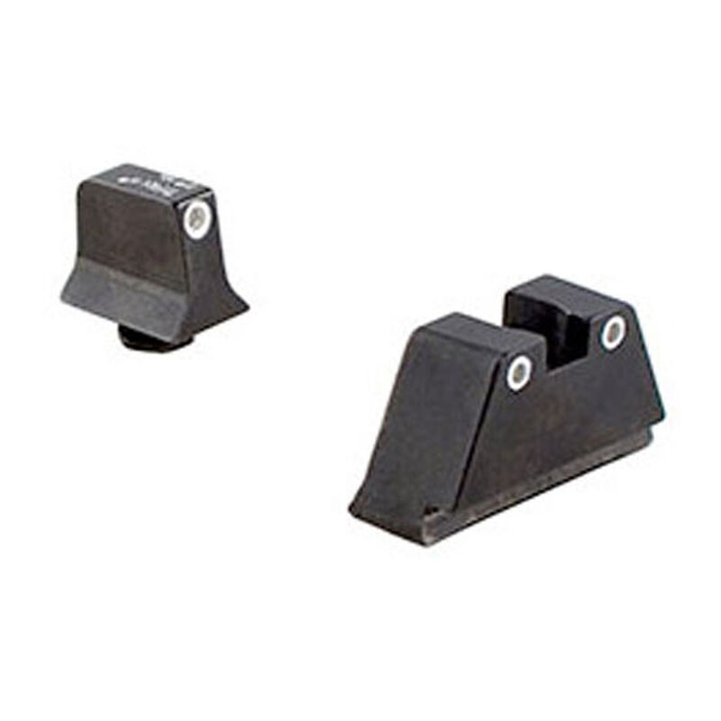 Trijicon Bright & Tough Suppressor Night Sight For GLOCK Large Frame Set White Front/White Rear with Green Front Lamp and Rear Lamps GL204-C-600689