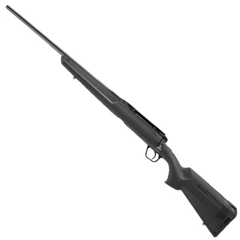 """Savage Axis II Left Hand Bolt Action Rifle .243 Winchester 22"""" Sporter Profile Barrel 4 Rounds Detachable Box Magazine AccuTrigger Synthetic Stock Matte Black Finish"""