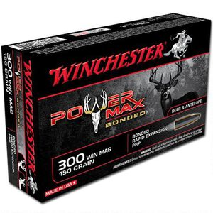 Winchester .300 Winchester Magnum Ammunition 20 Rounds Bonded PHP 150 Grains