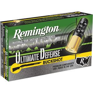 "Remington Ultimate Defense 12 Gauge Ammunition 5 Rounds 2.75"" Reduced Recoil #00 Lead Buckshot 9 Pellets"
