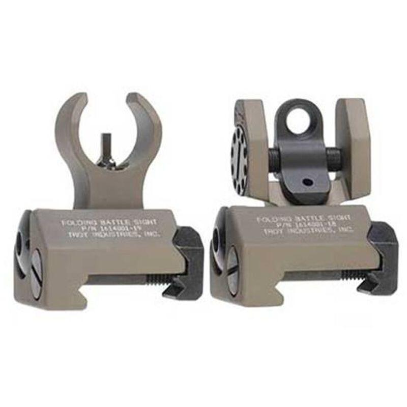 Troy Industries Micro BattleSights HK Style Folding Low Profile Aluminum Flat Dark Earth SSIG-IAR-SMFT-00
