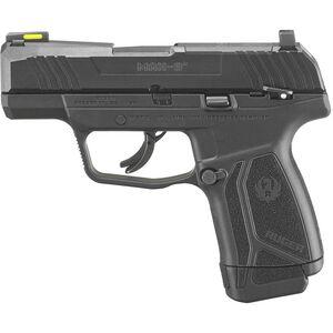 "Ruger Max-9 9mm Semi Auto Pistol 3.2"" Barrel 12 Rounds Thumb Safety Tritium Sight Black"