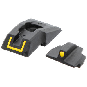 Ruger Security 9 Front/Rear Complete Sight Set Yellow Inserts Molded Polymer Matte Black