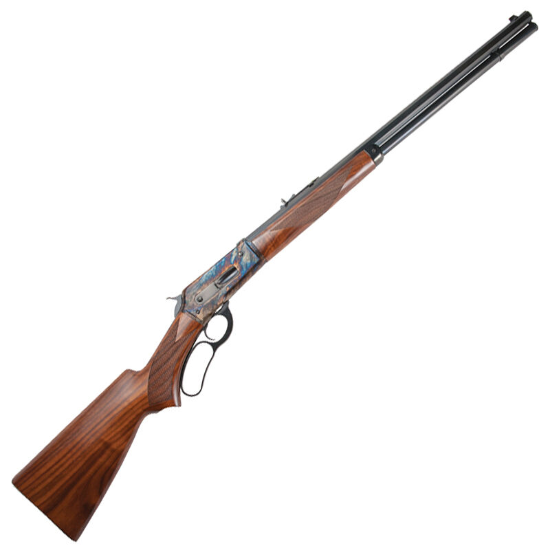 "Cimarron 1886 Rifle .45-70 Government Lever Action Rifle 26"" Octagon Barrel 8 Rounds Case Hardened Frame Walnut Stock/Forearm Blued Finish"