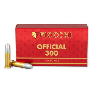 Fiocchi Exacta Super Match Rifle .22LR Ammunition 40 Grain 1050 fps