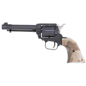 """Heritage Rough Rider .22 LR Single Action Rimfire Revolver 4.75"""" Barrel 6 Rounds Synthetic Copperhead Grips Black Finish"""