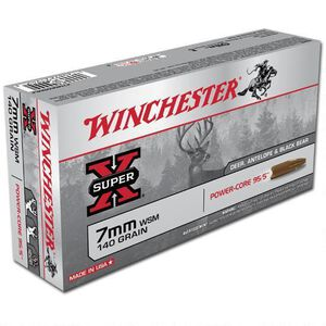Winchester Power Core 7mm WSM Ammunition 20 Rounds Lead Free HP 140 Grains X7MMWSMLF