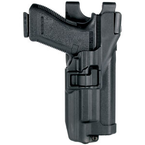 BLACKHAWK! SERPA Level 3 Duty Belt Holster S&W M&P 9/40 With Xiphos Light Right Hand Polymer Black 44H525BK-R