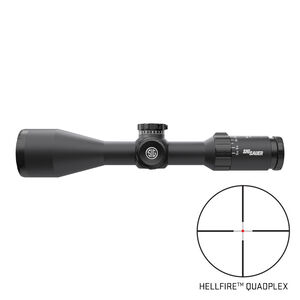 SIG Sauer Whiskey5 3-15x42 Riflescope Illuminated Hellfire Quadplex Reticle 30mm Tube .25 MOA Adjustment Second Focal Plane Black Finish