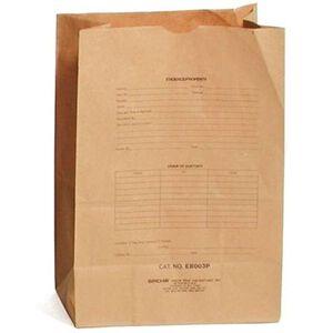 Sirchie Preprinted Kraft 12x18 Evidence Bag Set of 100