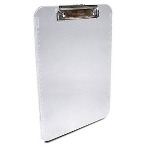 "Saunders Plastic Clip Board Low Profile Clear A4 8.5"" x  12"" Clear 00496"