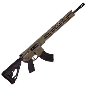 "Diamondback Firearms DB15 AR-15 Semi Auto Rifle 6.5 Grendel 18"" Barrel 28 Rounds 15"" M-LOK Free Float Rail Collapsible Stock Flat Dark Earth Finish"