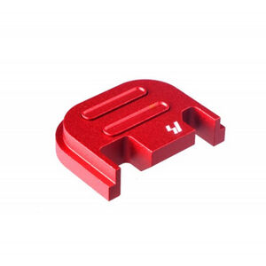 Strike Industries GLOCK Slide Cover Plate Fits All GLOCK Models Except 42/43 V2 Button Aluminum Red