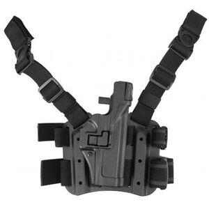 BLACKHAWK! Level 3 SERPA Smith & Wesson M&P 9mm Luger/.40 S&W Fullsize Tactical Leg Holster Right Hand Kydex Black 430625BK-R